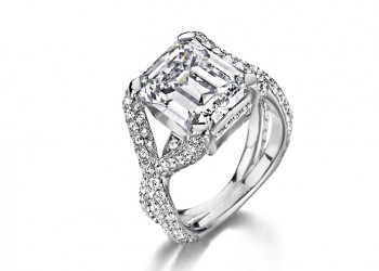 Bague sertie de diamants