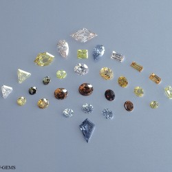 sample coloured diamonds