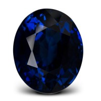 lovely blue sapphire, oval cut