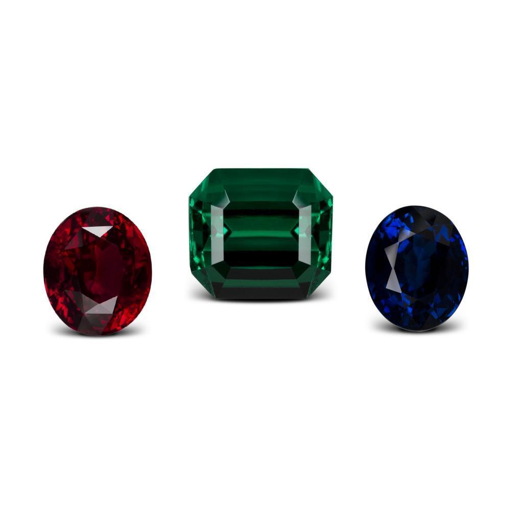 pierres de couleur : rubis, saphir, émeraude