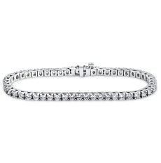 Bracelet rivière de diamants ronds – BR02