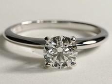 Bague Solitaire classique diamant rond