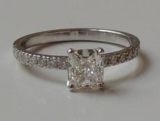 Bague pavage diamants – BP08