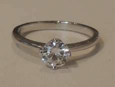 Extra fine 4-claw diamond solitaire ring- BS23