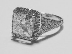 Princess diamond ring pave band – BP12