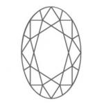 diamante di forma ovale