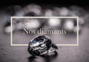 Photo représentant des diamants pur pour notre catalogue.